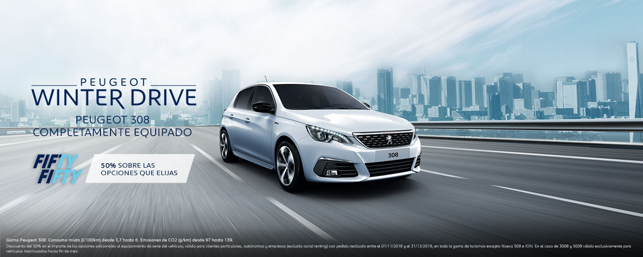 Mainbanner Peugeot 308 Winter Drive