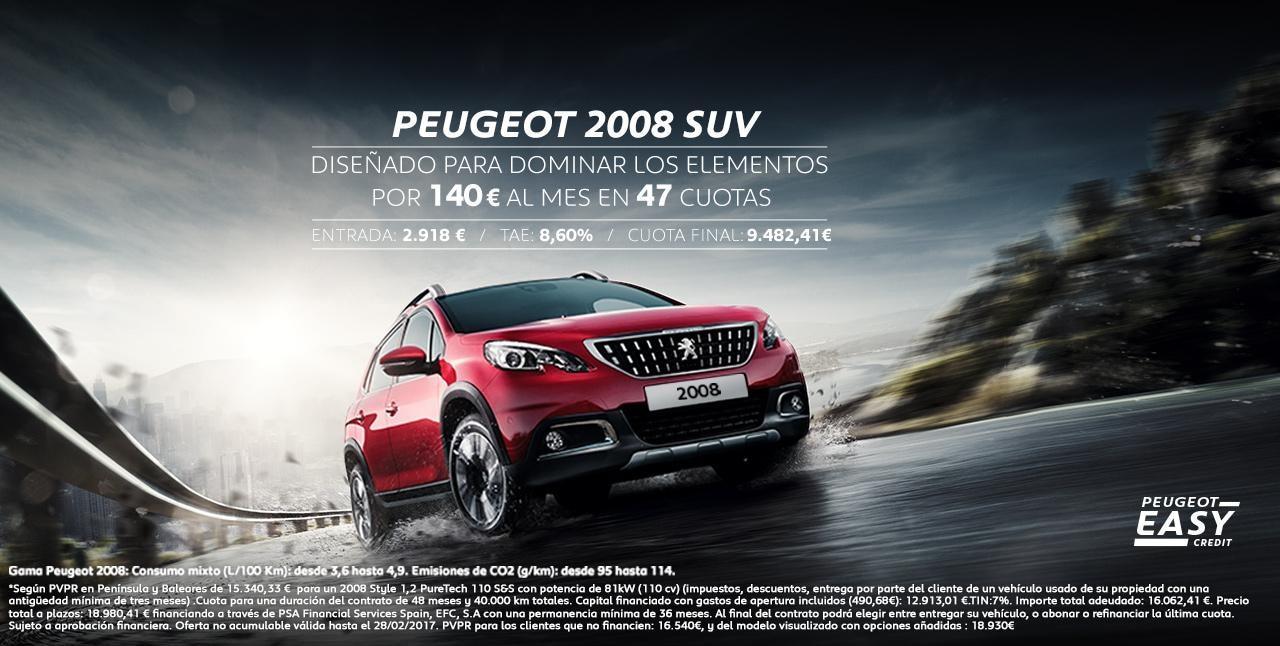 Peugeot 2008 SUV Oferta Mainbanner