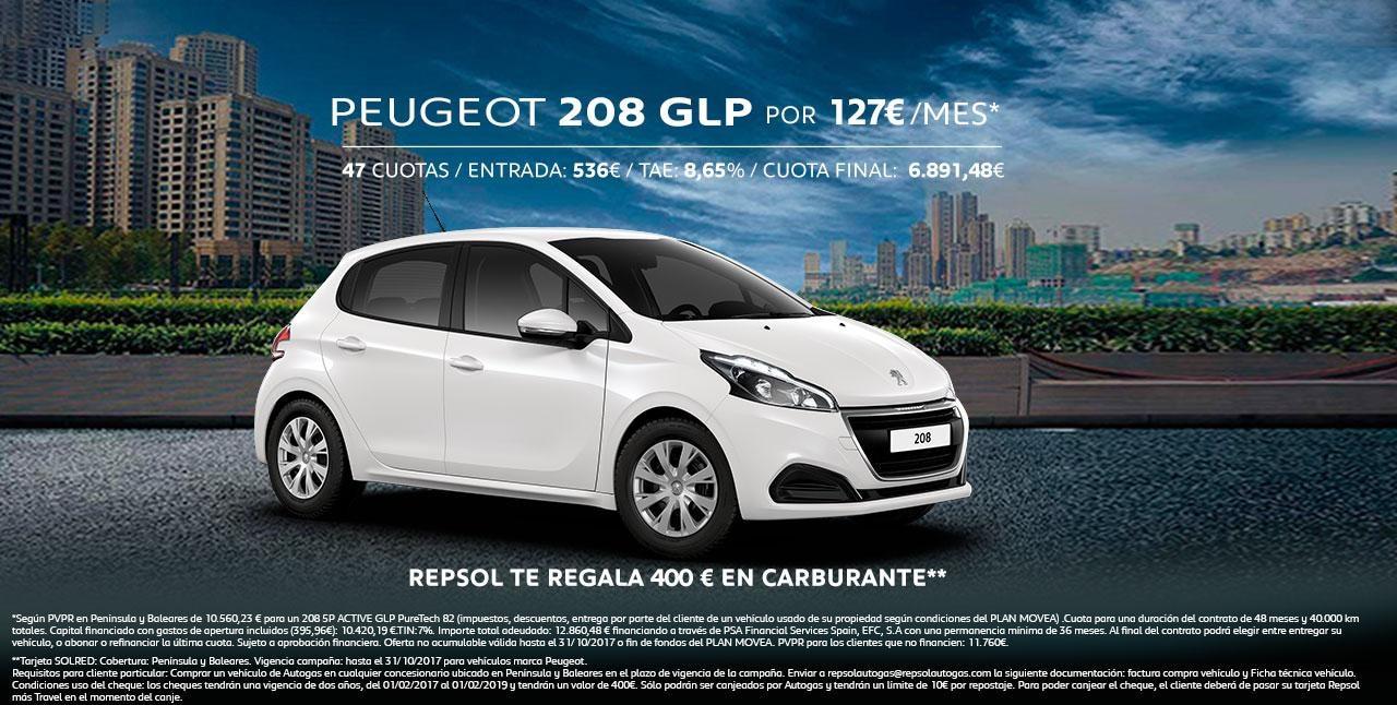 Mainbanner Peugeot 208 GLP Octubre