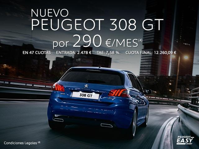 Oferta nuevo Peugeot 308 GT Easy Credit