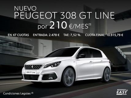 Oferta nuevo Peugeot 308 GT Line Easy Credit