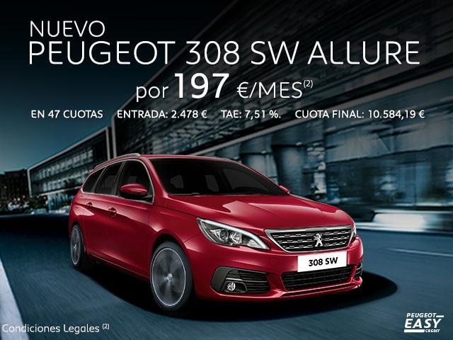 Oferta nuevo Peugeot 308 SW Allure