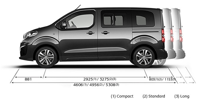 Peugeot Traveller Business dimensiones largo