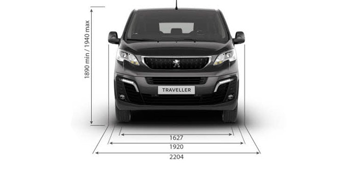 Peugeot Traveller Business dimensiones altura