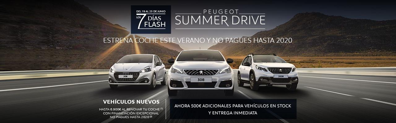 Oferta Peugeot Summer Drive - 7 Días Flash