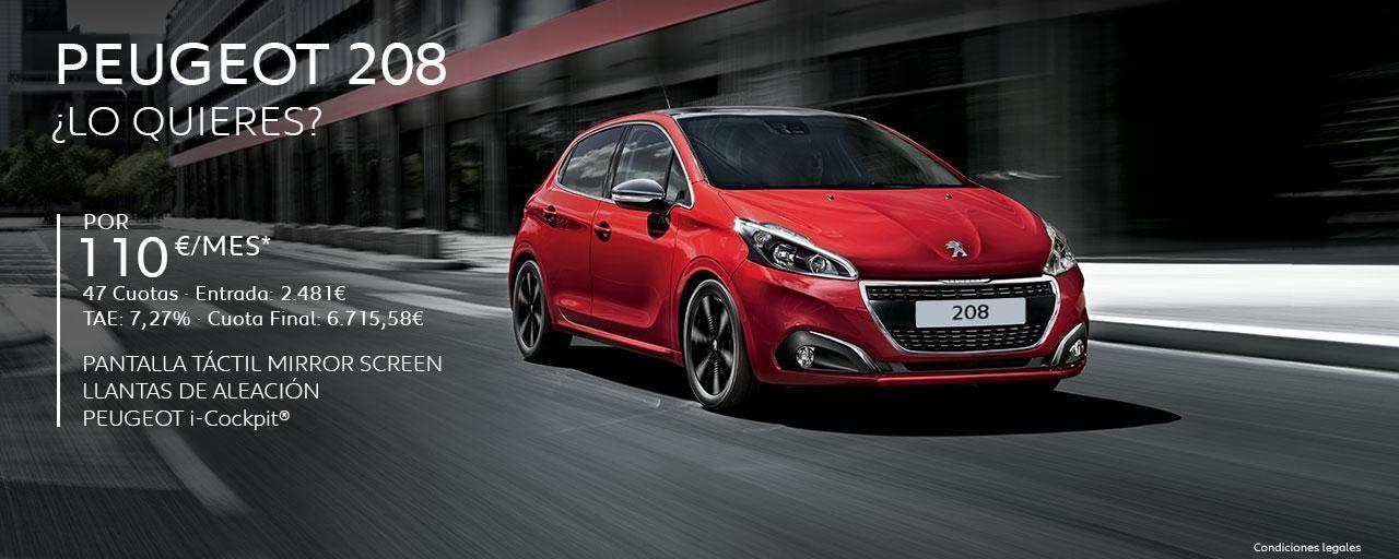 Peugeot 208 Cuotas Abril