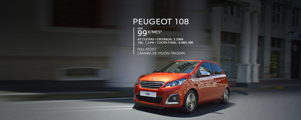Mainbanner Peugeot 108 Equipamiento