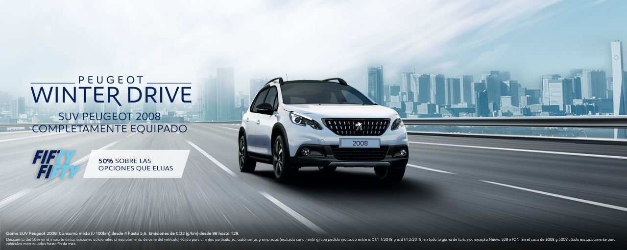Mainbanner SUV Peugeot 2008 Winter Drive