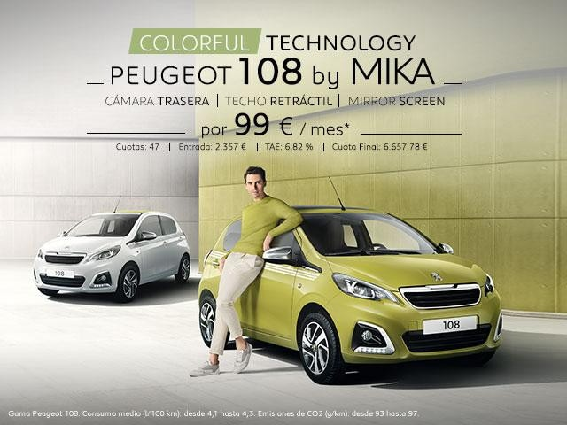 Promo Peugeot 108 5 puertas top Mika Collection