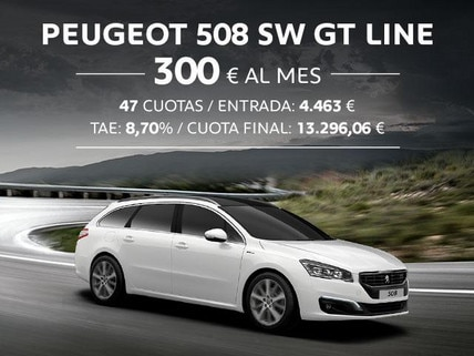 Oferta Peugeot 508 SW GT Line Octubre