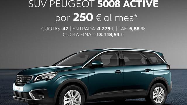 Oferta SUV Peugeot 5008 Active Noviembre