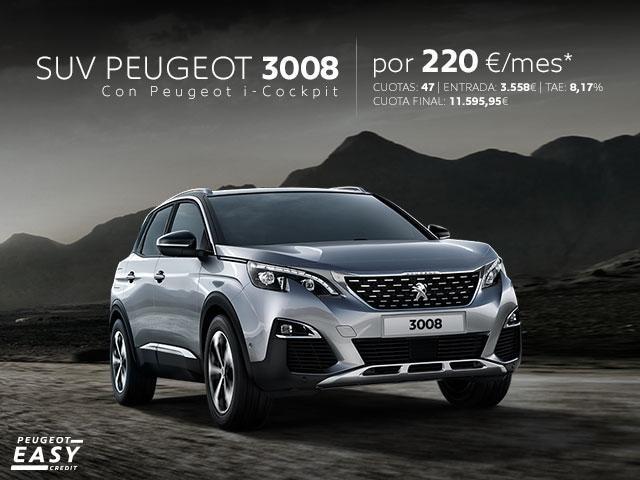 Oferta SUV Peugeot 3008 febrero 2018