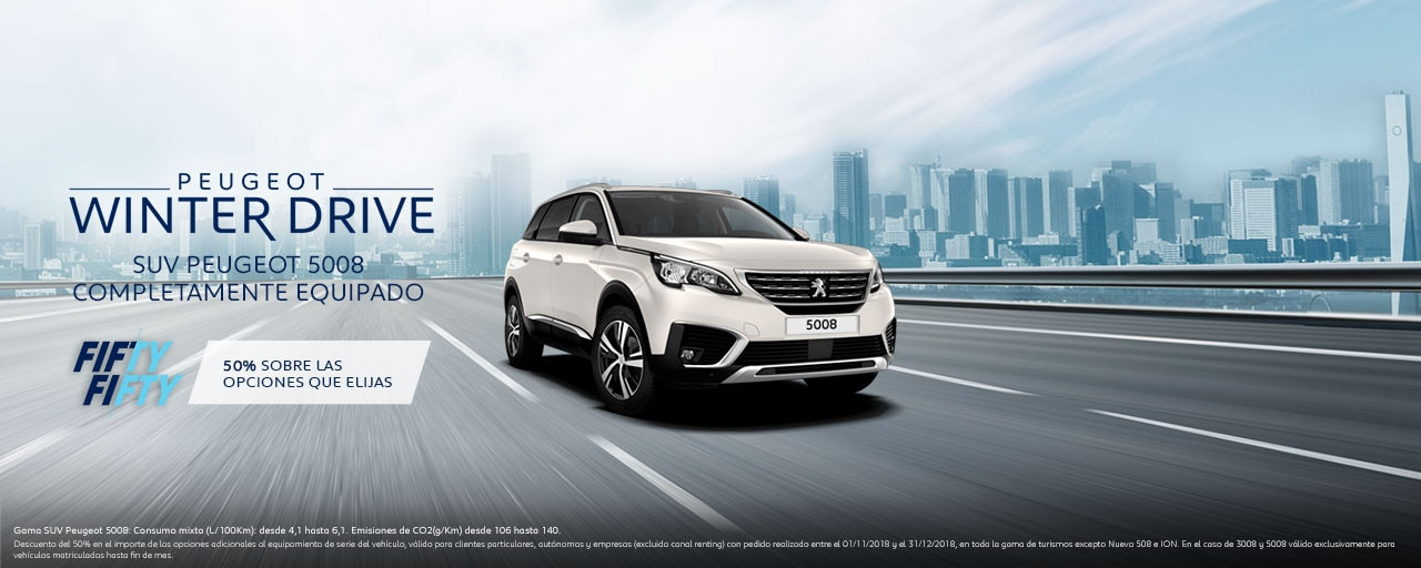 Mainbanner SUV Peugeot 5008 Winter Drive
