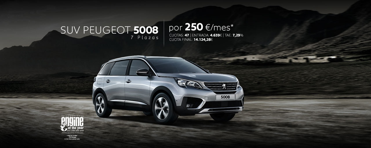 Mainbanner SUV Peugeot 5008 Cuotas Marzo