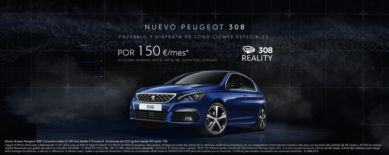 Mainbanner Nuevo Peugeot 308 Berlina Abril