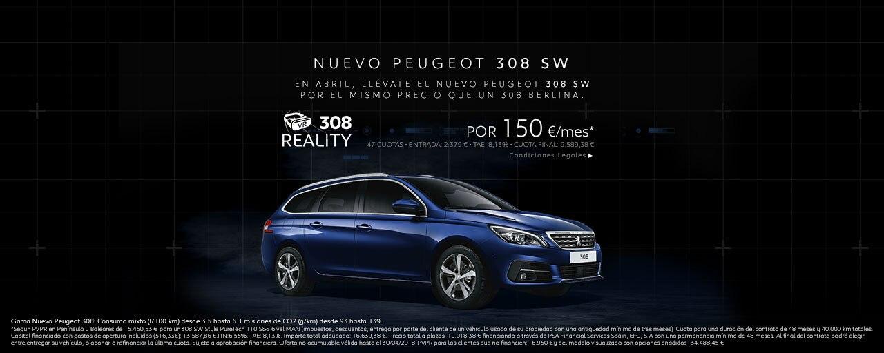 Mainbanner Peugeot 308 SW Cuotas Abril