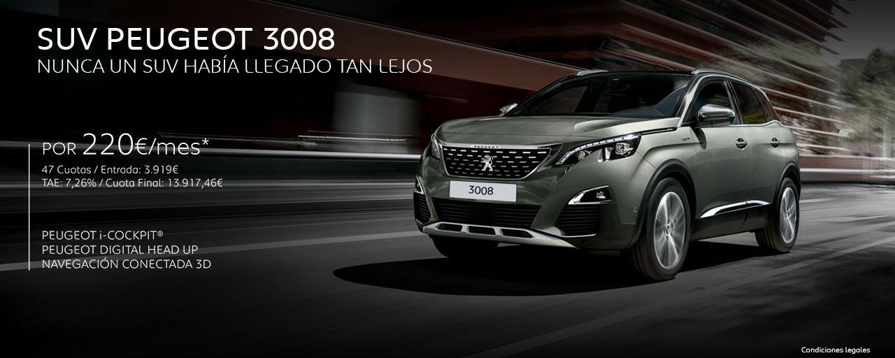 Mainbanner SUV Peugeot 3008 Cuotas Home
