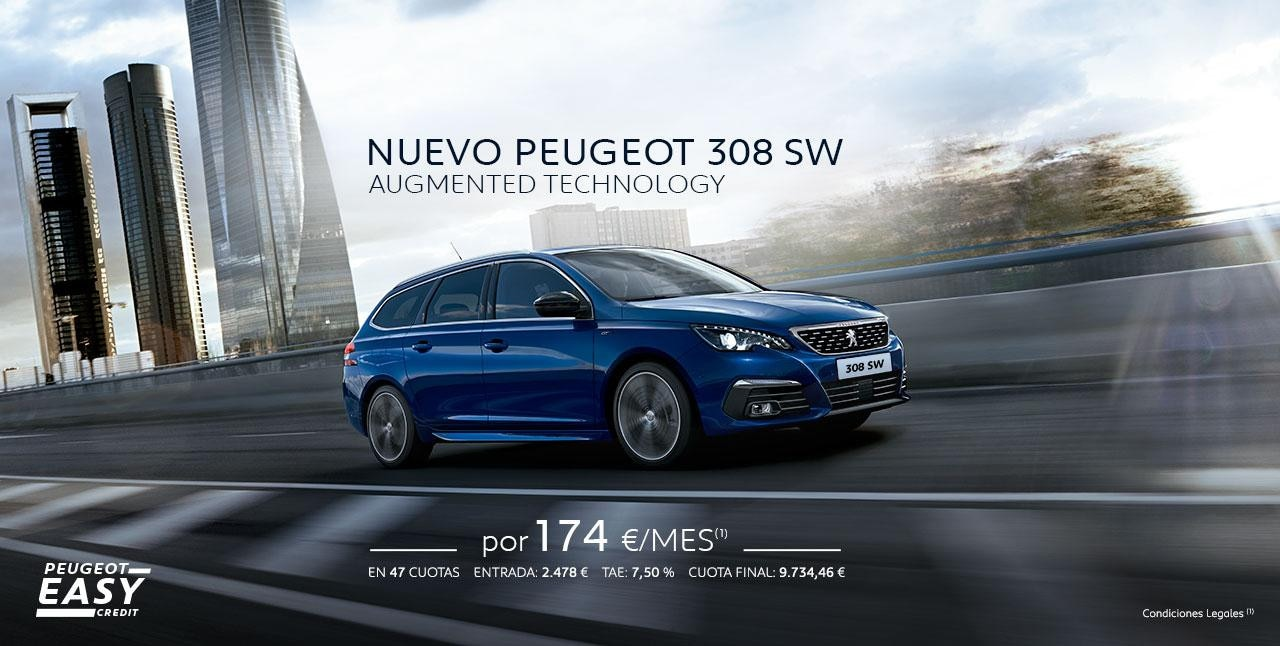 Oferta nuevo Peugeot 308 SW Augmented Technology