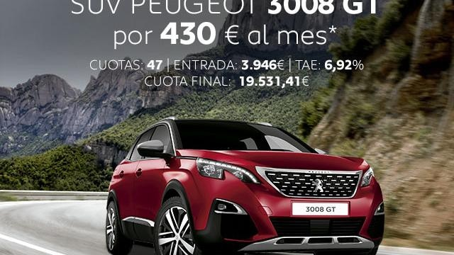 Oferta SUV Peugeot 3008 GT Noviembre