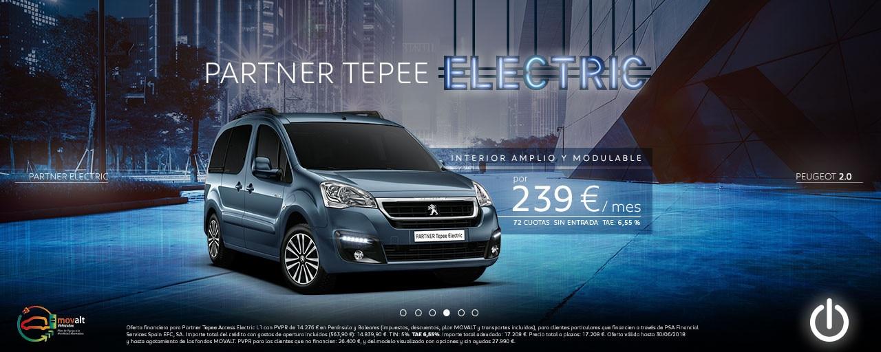 Servicios eléctricos Peugeot Partner Tepee Electric