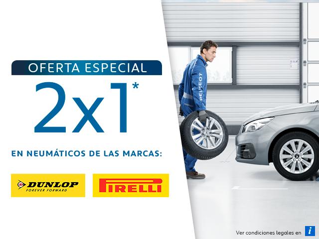 Oferta Especial 2x1 en Neumáticos móvil
