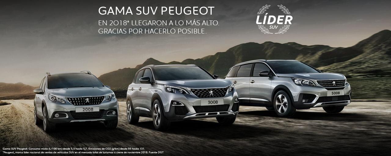 Gama SUV Peugeot 2018 Líder