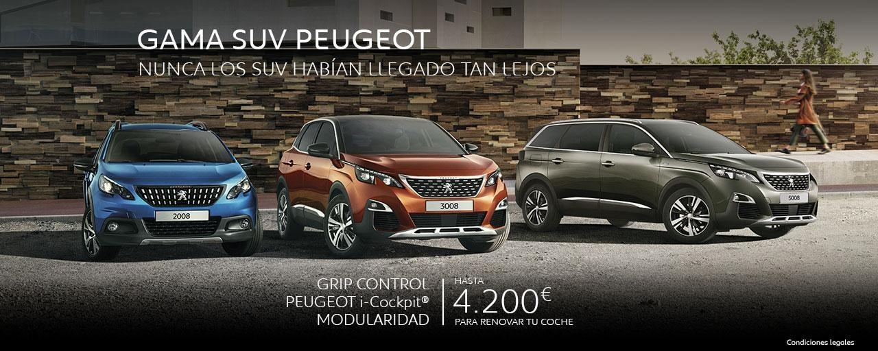Gama SUV Peugeot - Nunca los SUV habían llegado tan lejos