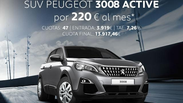 Oferta SUV Peugeot 3008 Active Abril
