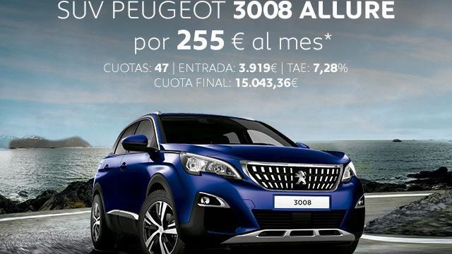 Oferta SUV Peugeot 3008 Allure Abril