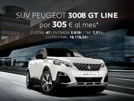 Oferta SUV Peugeot 3008 GT Line Abril