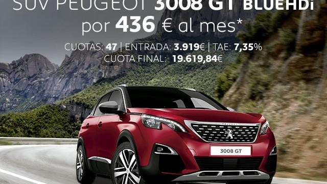 Oferta SUV Peugeot 3008 GT Abril