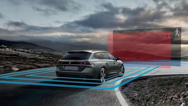 Nuevo Peugeot 508 SW: sistemas de ayuda a la conducción (ADAS)
