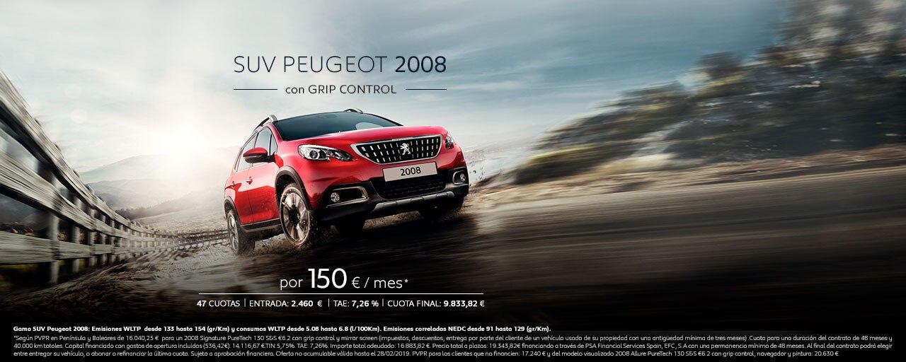 SUV Peugeot 2008 con Grip Control