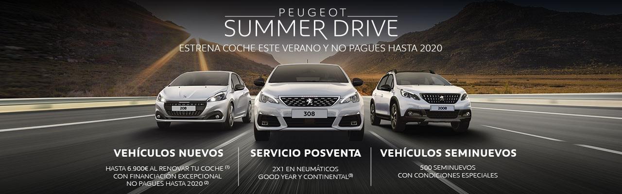 Oferta Peugeot Summer Drive Julio